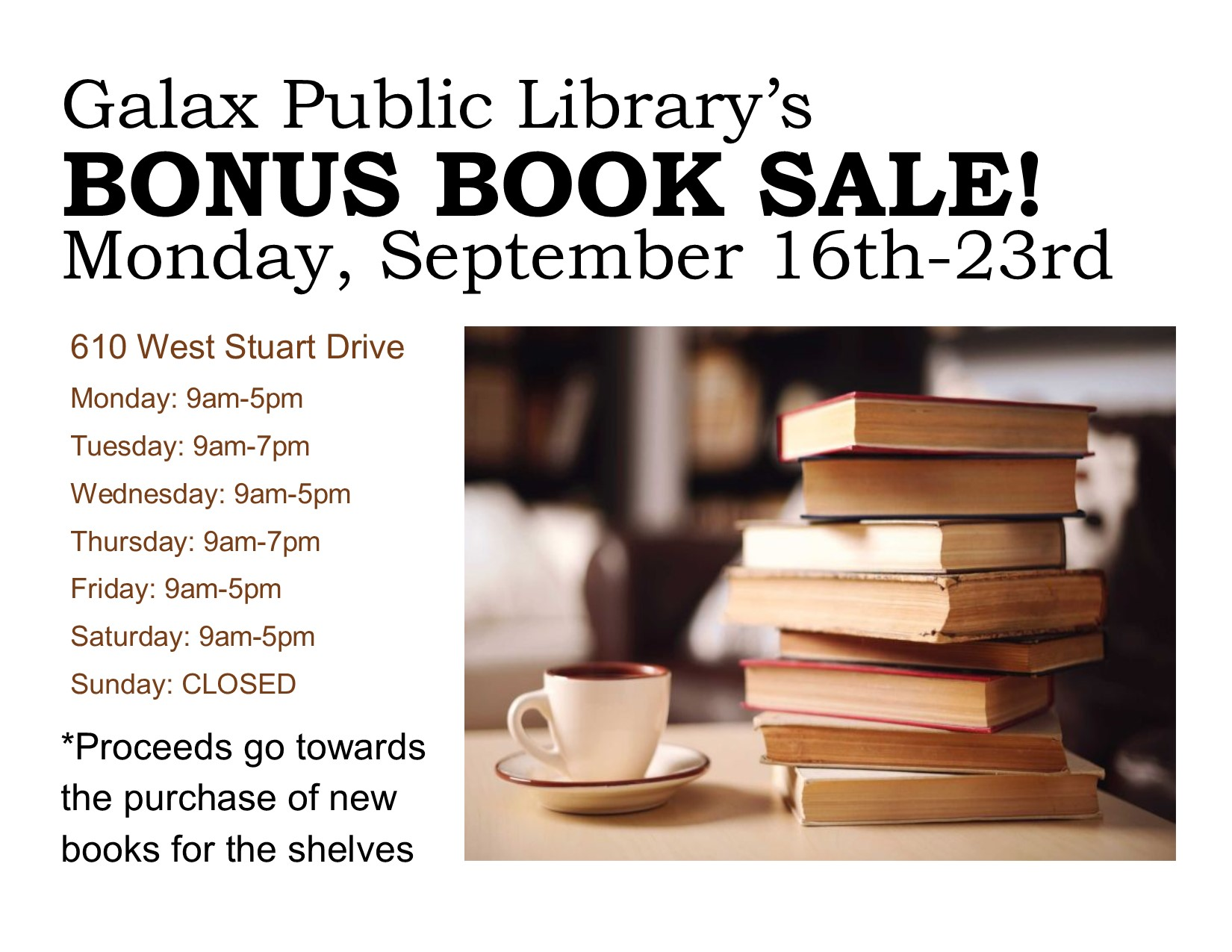[GPL] Bonus Book Sale! @ Galax Branch